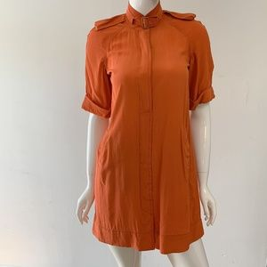 DIANE VON FURSTENBERG ORANGE TUNIC DRESS 67389